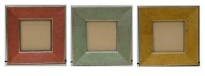 額縁おしゃれアンティークフレーム正方形B-22003赤/B-22004緑/B-22005黄色/額縁寸法50mm×50mm窓枠サイズ34mm×34mm 2mmアクリル裏板付 箱なし/壁掛け用/卓上スタンドは付いておりません。クリックポストにて発送
