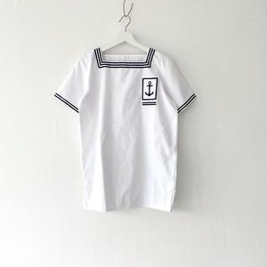 "FRANCE""MARINE NATIONAL""square neck sailor P/O shirt 88-92"