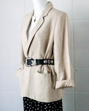 linen mixed tailored jacket