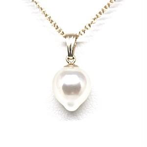 あこや本真珠のしずくのネックレスW