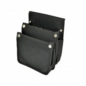 マルキン印 内側ポケット付ナイロン腰袋 AⅡ 黒