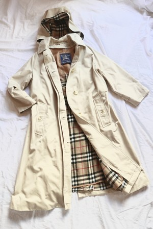 """BURBERRYS' 1960~70's """"One-Piece Sleeve"""" Trench Coat -Rare!-"""