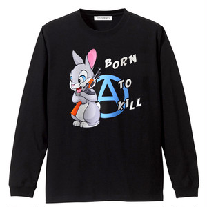 PSYCHOWORKS BORN TO KILL BLUE long sleeve t-shirt