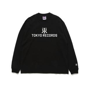 TOKYO RECORDS LOGO LONG TEE (BLK × WHT)