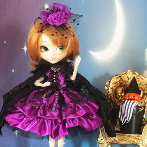 萌え可愛いロリータプリンセスワンピース ハロウィンにも最適な魔女っ娘バージョン