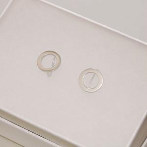 dot. 小さなまるのイヤリング (silver)