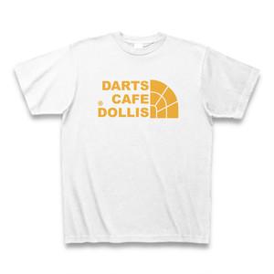 DOLLiSフェイスロゴTシャツ(白/黄)