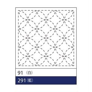 オリムパス花ふきん No.91(白)七宝つなぎ
