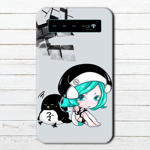 #019-038 モバイルバッテリー おすすめ iPhone Android おしゃれ メンズ 可愛い スマホ 充電器 タイトル:メトロノームとペンギン 作:續