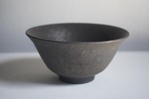 小林耶摩人 飯碗(黒釉)