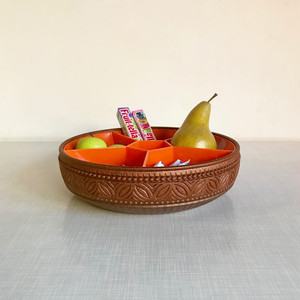 """emsa"" Retro Snack Tray 70's 西ドイツ"