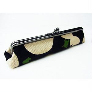蛙帆布がま口ペンケース 一布一会 ブラック hs7529kb1710