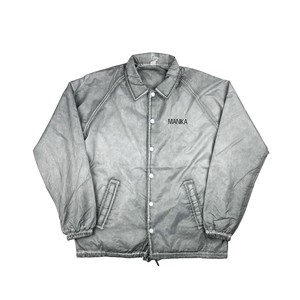 MANIKA ORIGINAL LOGO  Garment Dyed COACHES JACKETS /OIL GRAY