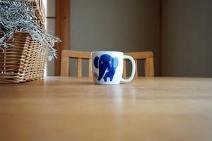 砥部焼/マグカップ(小)/青いぞうさん/きよし窯