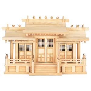 格子付三社・丸柱付 御簾付(ひのき)P09-75