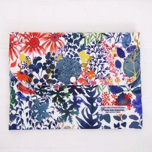 リバティ 母子手帳ケース フレスコ/レッド&ブルー B6サイズ マルチケース
