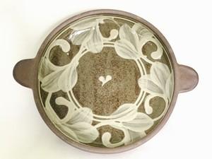 陶器 6寸耳つき合鉢(虫の音)