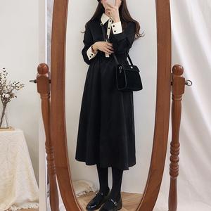 【ワンピース】リラックスカジュアル配色ロングワンピース 17241700
