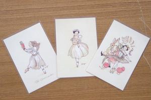 バレエ柄ポストカード