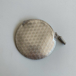 【COSMIC WONDER】Silver and light leather coin case /12CW83085-2