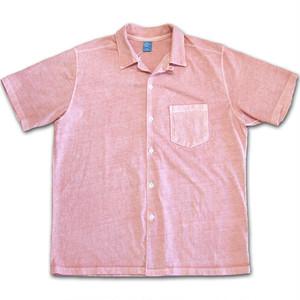 Good On グッドオン SS OPEN TEE SHIRTS オープンシャツ P-CORAL コーラルピンク 開襟シャツ カットソー COTTONUSA FabricMadeinUSA MadeinJAPAN GOST1605