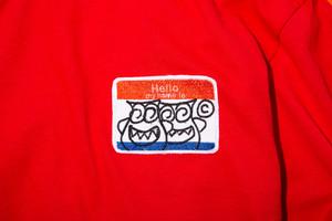 HELLO TEE ( RED/ORANGE)