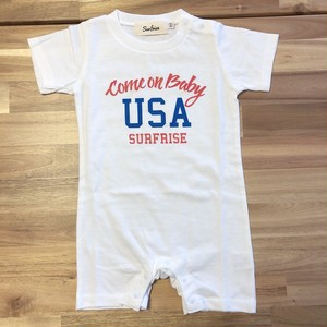 ★Baby★ Come on baby USA Rompers - White