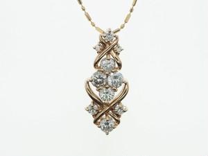 【K18PG】0.70ct UP ダイヤモンドネックレス