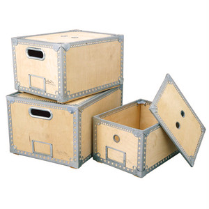 【100-226】Wooden box 3 set #収納ボックス #レトロ #ナチュラル #インダストリアル