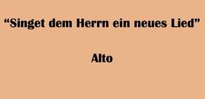 """アルト用 """"Singet dem Herrn ein neues Lied"""" BWV 225 Karaoke for Alto"""