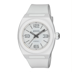 RS-001M-03 RISNY(リスニー) 楽天Edy内蔵 クオーツ 腕時計 ホワイト ユニセックス