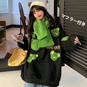 【トップス】カエル柄キュート通学ファッション若見えパーカー37353120