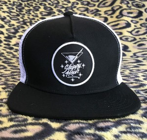 Slappy Hour / Davis Script Trucker / Black and White