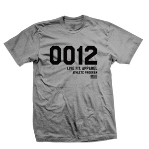 LIVE FIT 0012 Tee - Charcoal Heather