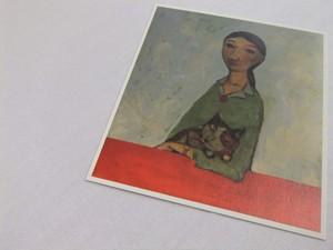 CATACANA*[ポストカード] ALEXANDER SOKHT -Girl And Cat -