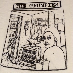 the grumpies / who ate stinky? t-shirt white:medium