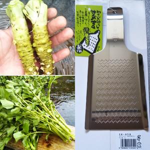 神鍋わさび(規格外品)100g+十戸クレソン500g+専用おろし板