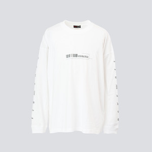 LOCATION LONG SLEEVES T-SHIRT【 WHITE 】