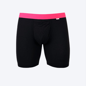 MY PAKAGE マイパッケージ BOXER BRIEF COLOR BLACK/HIGT-VIS PINK サイズM