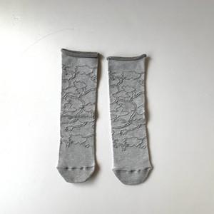 かかとのない靴下 【つつした x pink india】  gray  