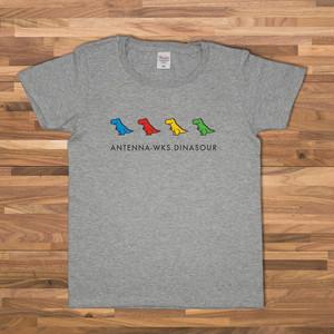 恐竜 Tシャツ/グレー【CWE-095GR】