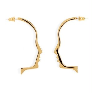 Face Out Line Earrings♥