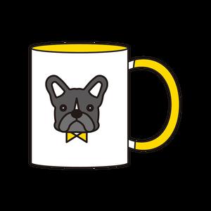 2トーンマグカップ(ブリンドル)_イエロー