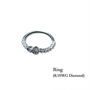 jewelG <Chic> ダイヤモンド リング K18WG