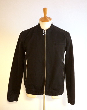 Bio Wash Shirring Blouson Black