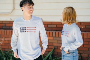 【受注限定復刻】 USA ArrowFlag L/S TEE(white)