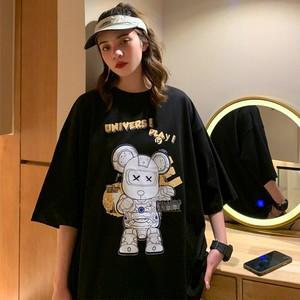 【トップス】男女兼用instagram人気半袖ストリート図柄プリント個性的Tシャツ42829678