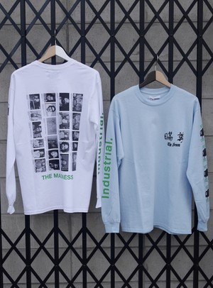 BLACK WEIRDOS / M-Scum L/S Tee (Sky / White)