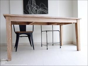 チーク総無垢材 ダイニングテーブルLNW 食卓テーブル 机 ナチュラルホワイト 手づくり 銘木 シンプル 新品 幅160cm×奥80cm 『送料無料』