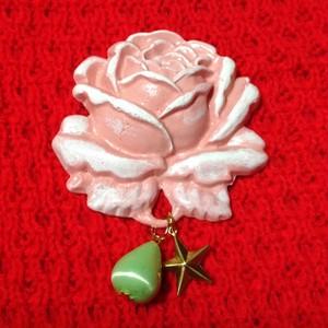 552 大きな薔薇の帯飾り(ブローチ)ピンク